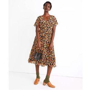 Madewell Flower Garden Midi Dress - size 4